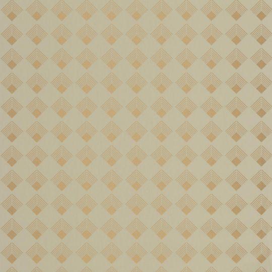 Шпалери Caselio Labyrinth LBY102137025 ромбики оливкове золото