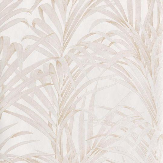 Обои Casadeco 1930 MNCT28921108 пальмы бело-бежевый перламутр