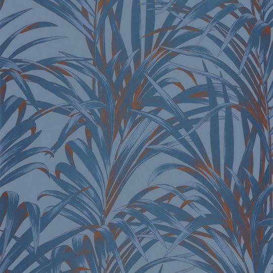Обои Casadeco 1930 MNCT28926404 синие пальмы на голубом