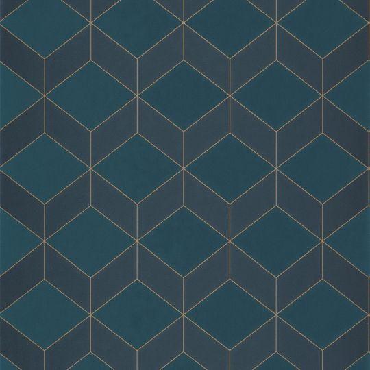 Обои Casadeco 1930 MNCT85686337 кубы 3D темно-синие
