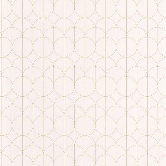 Обои Casadeco 1930 MNCT85690020 круги арт деко на белом фоне