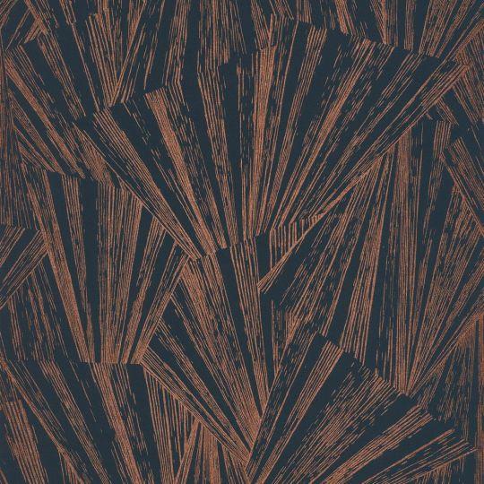 Обои Casadeco 1930 MNCT85746535 абстракция золотая на графитовом