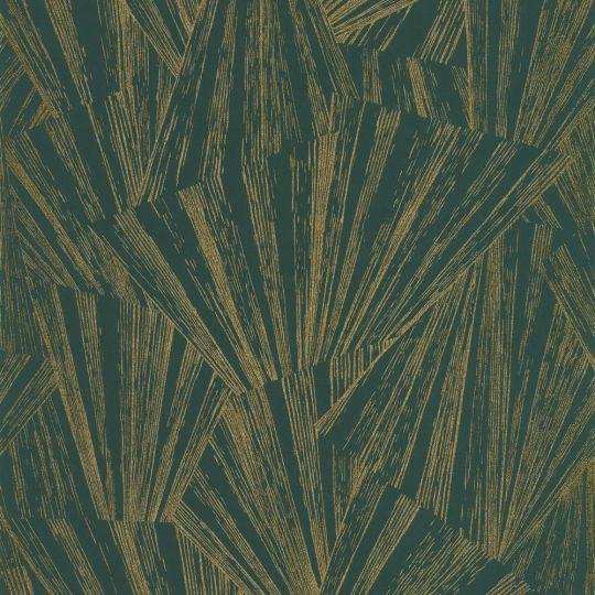 Обои Casadeco 1930 MNCT85747507 абстракция золотая на зеленом