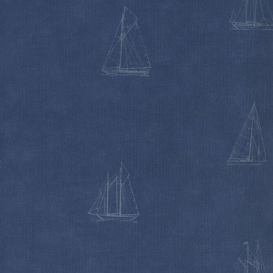 Шпалери Casadeco Marina MRN25046141 вітрильник темно-синій