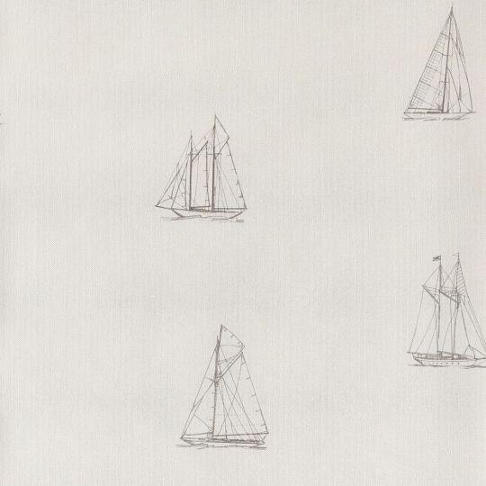 Обои Casadeco Marina MRN25049103 парусник белый