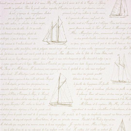 Шпалери Casadeco Marina MRN25051129 листи моряку білі