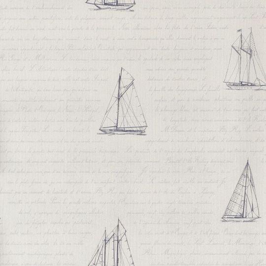 Шпалери Casadeco Marina MRN25056116 листи моряку білі
