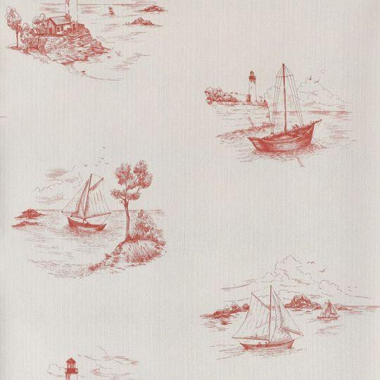 Обои Casadeco Marina MRN25078104 морской бело-красный