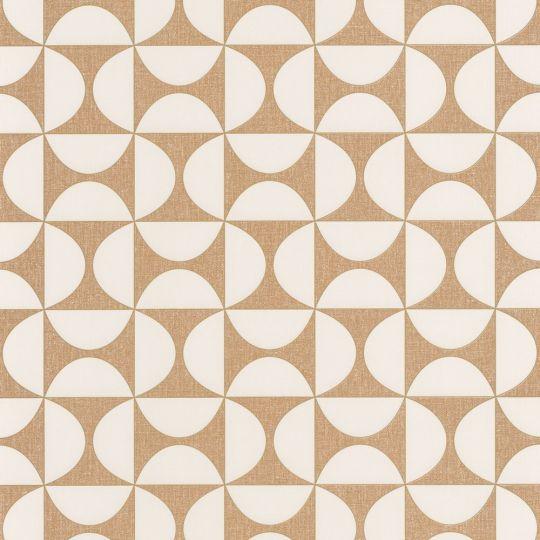 Шпалери Caselio Moove MVE101322911 геометрія бронзово-біла