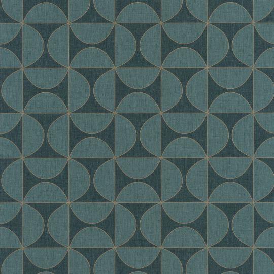 Обои Caselio Moove MVE101326208 геометрия темно-синяя