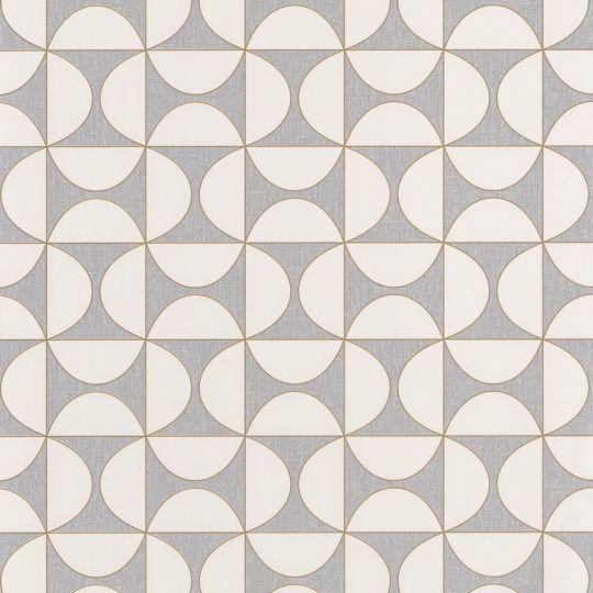 Шпалери Caselio Moove MVE101329003 геометрія біло-сіра