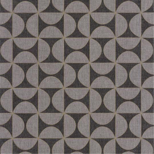Шпалери Caselio Moove MVE101329808 геометрія сіро-чорна