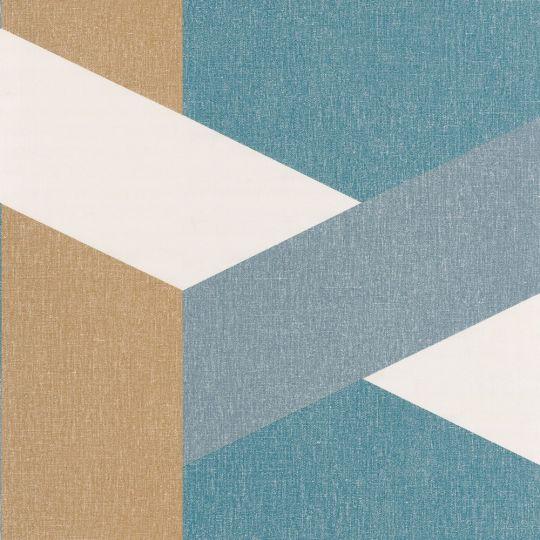 Обои Caselio Moove MVE101356319 геометрия синяя