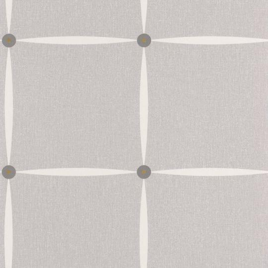 Шпалери Caselio Moove MVE101369100 заклепки світло-сірі