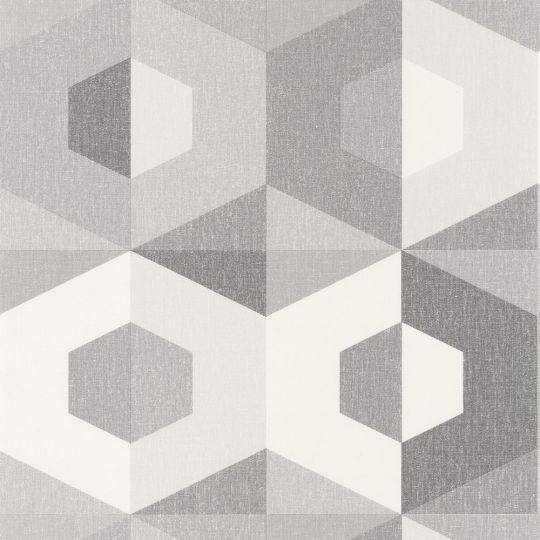 Шпалери Caselio Moove MVE101379102 шестигранники сірі