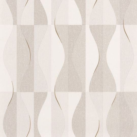 Обои Caselio Moove MVE101381212 волны бело-коричневые