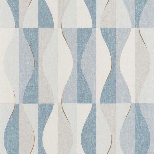 Шпалери Caselio Moove MVE101386134 хвилі синьо-блакитні