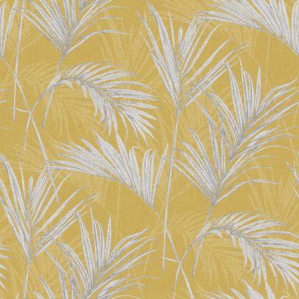 Шпалери Grandeco Myriad MY2001 пальмове листя жовті