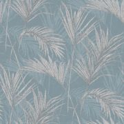 Обои Grandeco Myriad MY2002 пальмовые листья морская волна