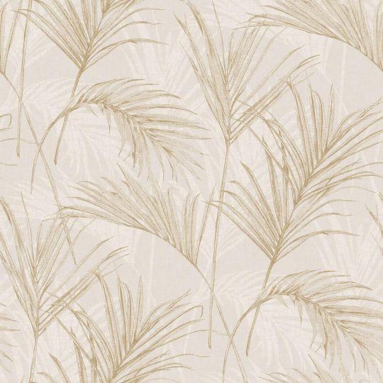 Шпалери Grandeco Myriad MY2004 пальмове листя бежеві