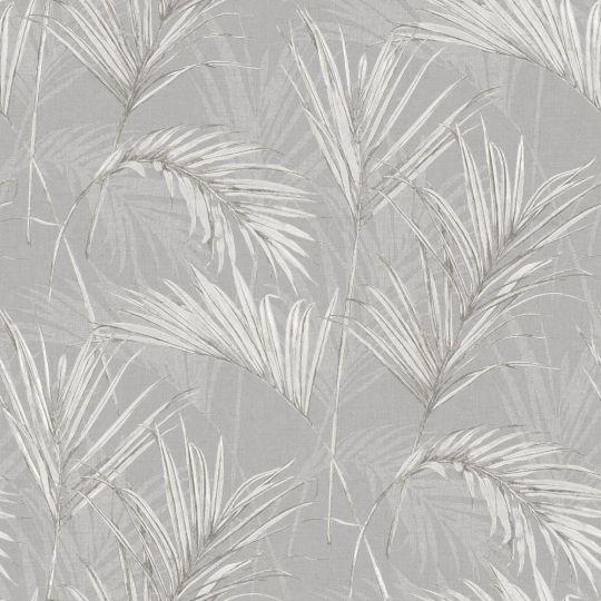Обои Grandeco Myriad MY2006 пальмовые листья серые
