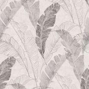 Шпалери Grandeco Myriad MY2203 бананове листя сірі