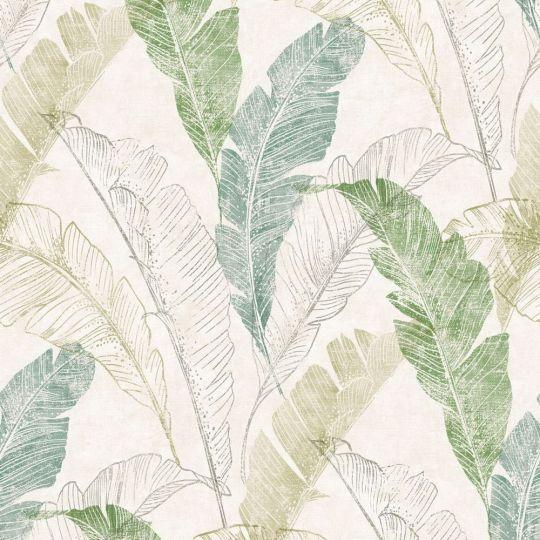 Обои Grandeco Myriad MY2204 банановые листья зеленые