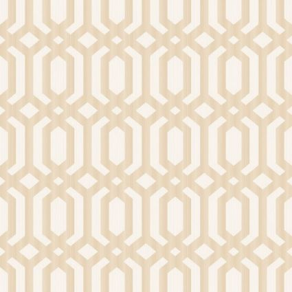 Шпалери Grandeco Myriad MY3302 геометрія темно-бежева