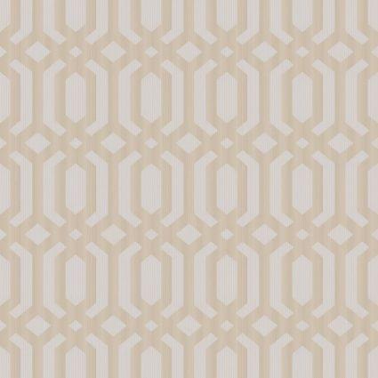 Шпалери Grandeco Myriad MY3304 геометрія біло-бежева