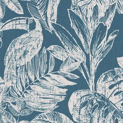 Шпалери Grandeco Myriad MY3404 тукан синій