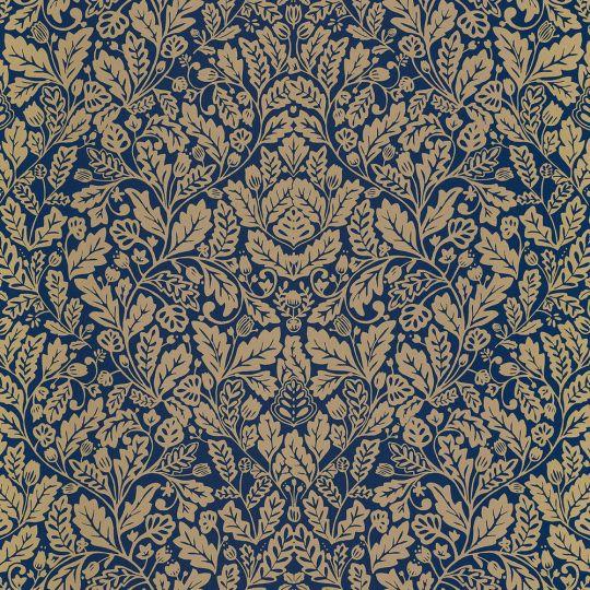 Обои Caselio Mystery MYY101616606 дубок синий с золотым