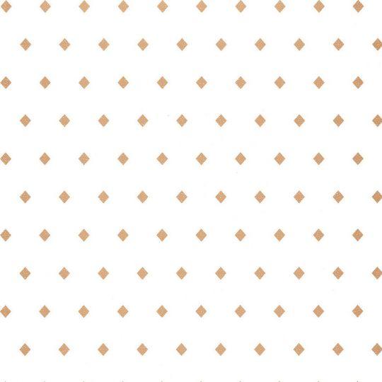Шпалери Caselio Mystery MYY101620031 золоті ромби на білому