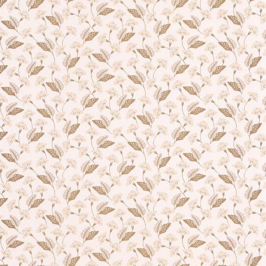 Обои Caselio Mystery MYY101631212 поляна кремово-золотая на белом
