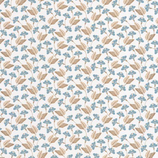 Обои Caselio Mystery MYY101636400 полянка голубой на белом