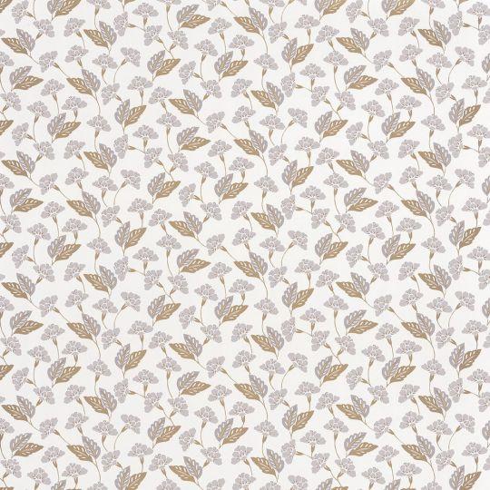 Обои Caselio Mystery MYY101639125 полянка бело-серая