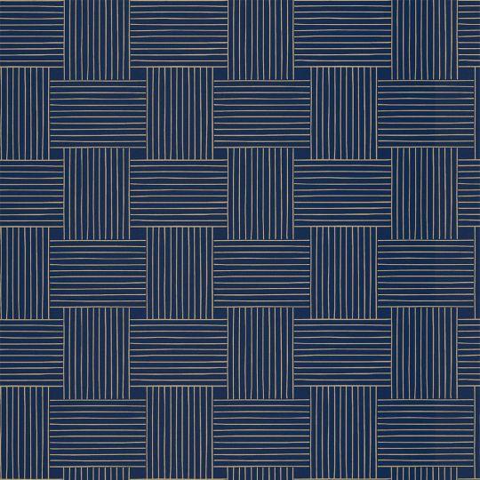 Обои Caselio Mystery MYY101646328 плетенка на синем