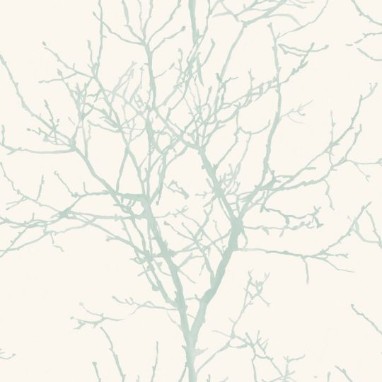 Обои Grandeco New Aurora NA3401 дерево бело-мятное