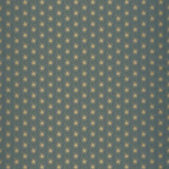 Обои Casadeco Natsu NATS82156408 абстрактные звездочки золотые на бирюзовом