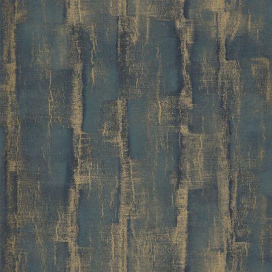 Обои Casadeco Natsu NATS82177318 древесина темно-бирюзовые