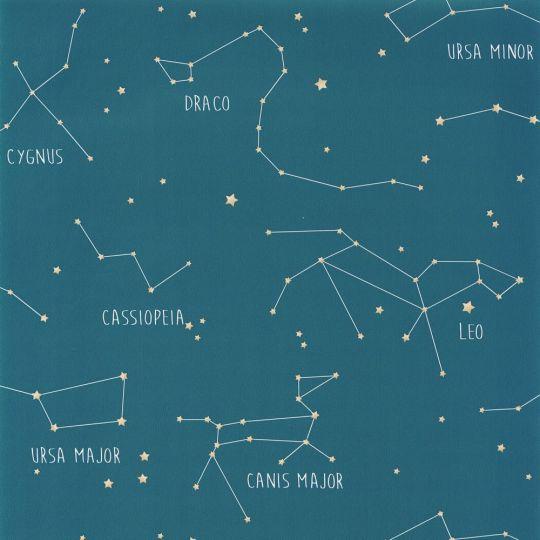 Дитячі шпалери Caselio Our Planet OUP101916003 сузір'я сині
