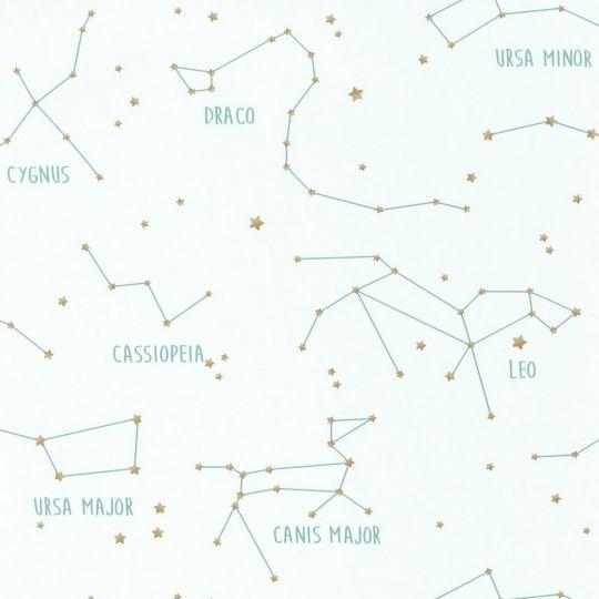 Дитячі шпалери Caselio Our Planet OUP101917125 сузір'я на білому тлі