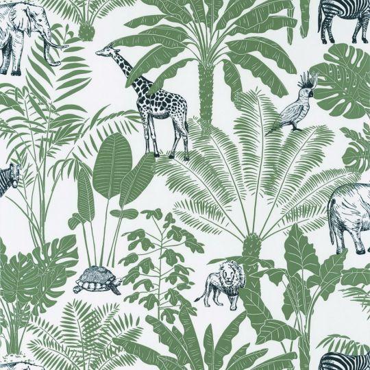 Дитячі шпалери Caselio Our Planet OUP101957403 джунглі темно-зелені