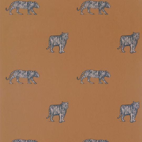 Дитячі шпалери Caselio Our Planet OUP101962929 тигри терракот