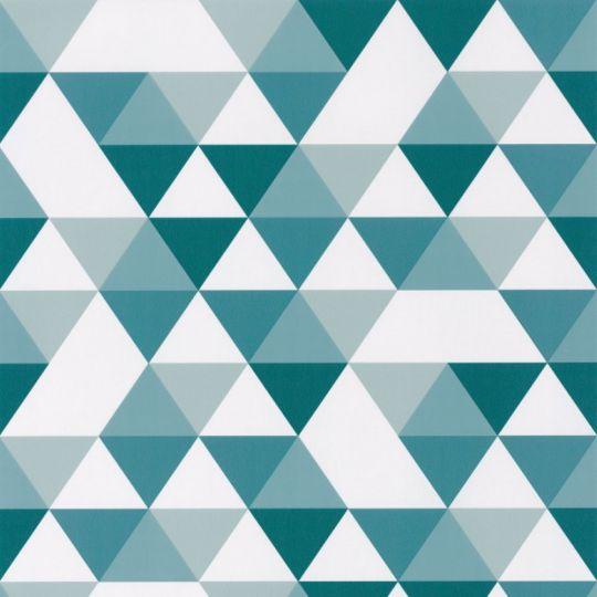 Дитячі шпалери Caselio Our Planet OUP102006011 геометрія біло-синя