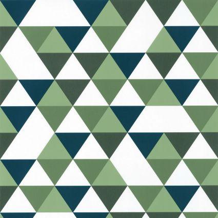 Детские обои Caselio Our Planet OUP102007432 геометрия сине-зеленая