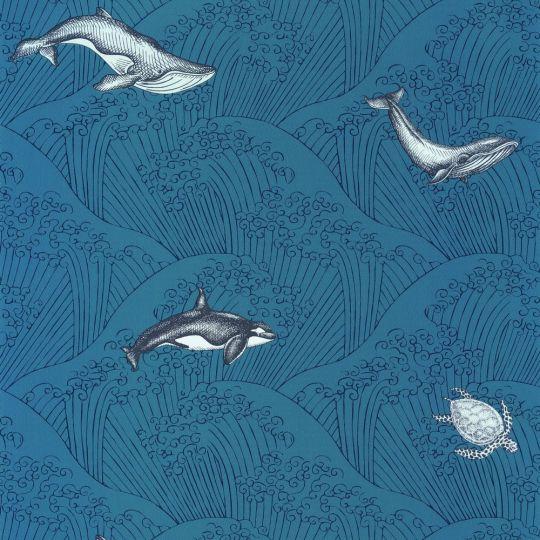 Дитячі шпалери Caselio Our Planet OUP102016608 кити сині