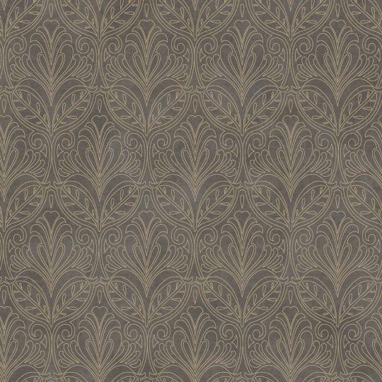 Обои Casadeco Palazzo PALA83569509 королевские узоры графитово-коричневые