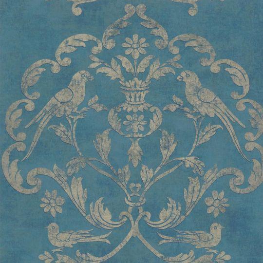 Обои Casadeco Palazzo PALA83616420 версаль королеский синий