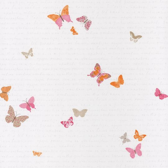 Обои Caselio Pretty Lili PRLI69104035 бабочки оранжевые
