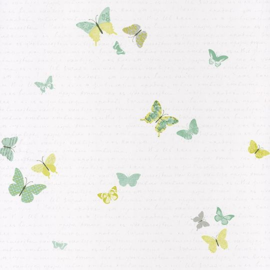 Обои Caselio Pretty Lili PRLI69107079 бабочки зеленые